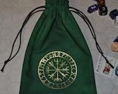 Viking compass vegvisir futhark rune bag