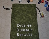 DUBIOUS DICE Dungeons and Dragons game dice bag