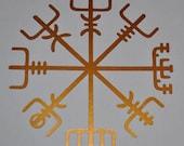 Icelandic Viking vegvisir rune copper vinyl decal