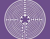 Chartres Cathedral labyrinth white vinyl decal