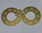 Ouroboros infinity gold vinyl decal