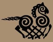 Viking Odin Sleipnir black vinyl decal