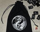 Viking wolf Skoll Hati rune dice bag