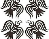 Viking Odin raven SET of 4 black vinyl decal