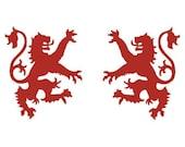 Scottish lion red heraldic vinyl decals