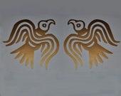 Viking Odin ravens copper vinyl decal