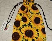 Sunflowers tarot rune dice bag