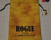 ROGUE thief Dungeons and Dragons game dice bag