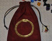 Ouroboros snake rune dice bag