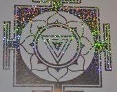 Kali Yantra mandala confetti vinyl decal