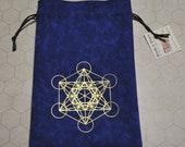 Metatron's cube sacred geometry tarot dice bag
