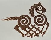 Viking Odin Sleipnir copper vinyl decal