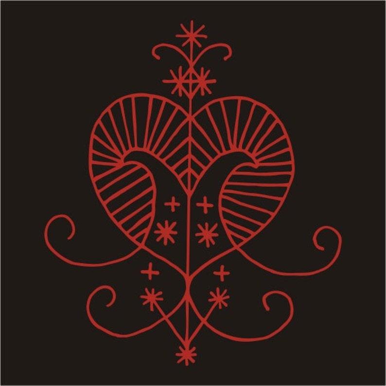 Erzulie voodoo veve red vinyl decal