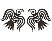 Viking Odin ravens black vinyl decal