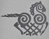Viking Odin Sleipnir silver vinyl decal