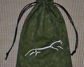 Celtic Uffington white horse tarot rune dice bag