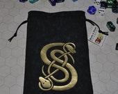 Celtic knot Viking snakes dice bag