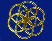 Seed of life SET of 6 gold mirror vinyl decal