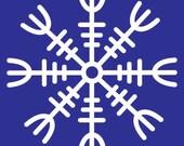 Viking HELM OF AWE rune white vinyl decal