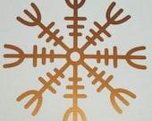 Viking HELM OF AWE rune copper vinyl decal