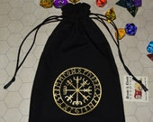 Vegvisir Viking compass futhark rune bag