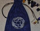 Corvus Celtic raven tarot rune dice bag