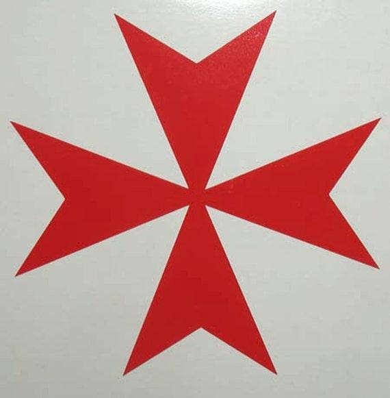 le maltais crois m di val croix rouge vinyle autocollant etsy. Black Bedroom Furniture Sets. Home Design Ideas