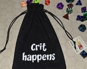 CRIT HAPPENS Dungeons and Dragons game dice bag
