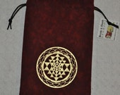 Sri Yantra sacred geometry tarot bag
