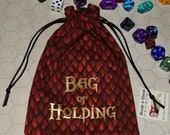 BAG of HOLDING red dragon scale game dice bag