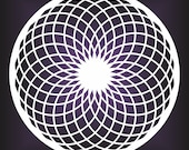Torus sacred geometry white vinyl decal