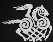 Sleipnir REFLECTIVE white Viking goddess vinyl decal