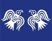 Viking Odin ravens white vinyl decal