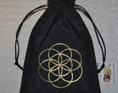 Seed of life Flower of life sacred geometry reversible bag