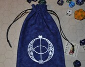 Chalice well sacred geometry tarot dice bag