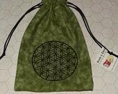 Flower of Life sacred geometry tarot dice bag