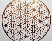 Flower of life sacred geometry copper vinyl decal