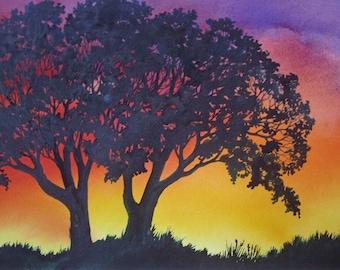 Sunset Lace III an original watercolor