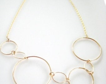 Gold Circles Necklace / Circular Motion of Stars REVISITED - Part Deaux