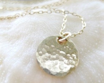 "Gold Disc Necklace -""Your Irreplaceable Spark"""