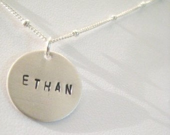 Personalized Silver Charm Necklace - ONE
