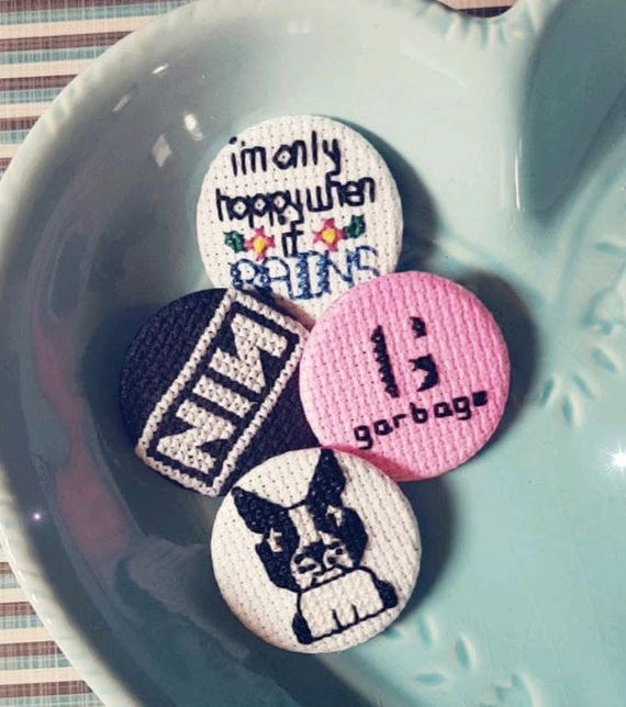 38mm//1.5 inch Only Happy When It Rains Funny Cute Lyric Button Pin Badge