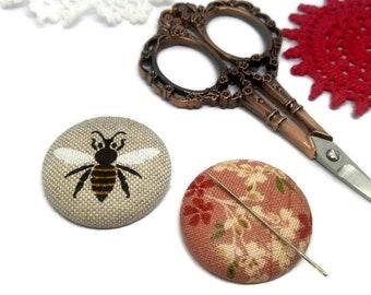Bee Needle Minder Reversible Needleminder Magnetic Cross Stitch Embroidery Sewing Needlepoint Flower Needle Minder Handmade Supply Bumblebee