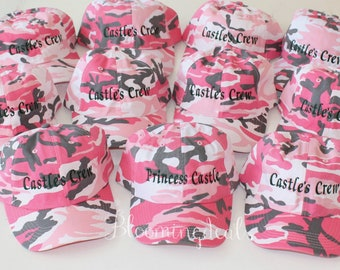 Wedding Party Hats Custom Text Bachelorette Party Hats, Set of 5 Hats