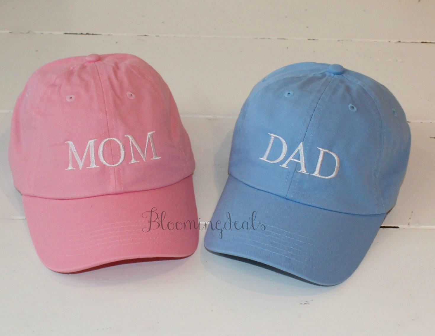 f6fd0e57a11 MOM and DAD Pregnancy Announcement Baseball Caps Big Brother