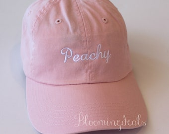 Peachy Baseball Caps Monogrammed Hat Low Profile Unstructured Pigment Dyed
