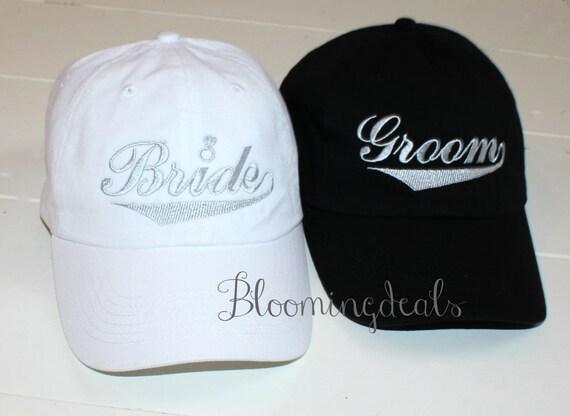 c94926248ee Bride and Groom Baseball Caps Wedding Gift Classic Dad Caps
