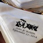 Second Line handkerchiefs Starting at 1.01   hankies hanky napkins New Orleans Wedding personalized customized parade Black, names/dates