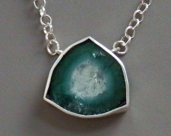 Blue tourmaline necklace / custom tourmaline / watermelon tourmaline / October birthstone / tourmaline jewelry / indicolite / gift