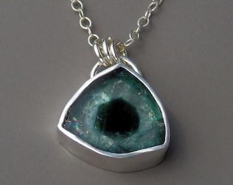 Indicolite tourmaline necklace / blue tourmaline / watermelon tourmaline / tourmaline jewelry / tourmaline slice / turmalina / gift for her